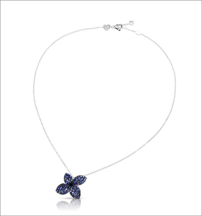 Collana Petit Garden con zaffiri blu