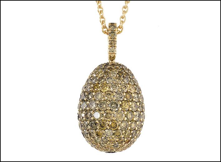 Pendente di Fabergé in oro e diamanti