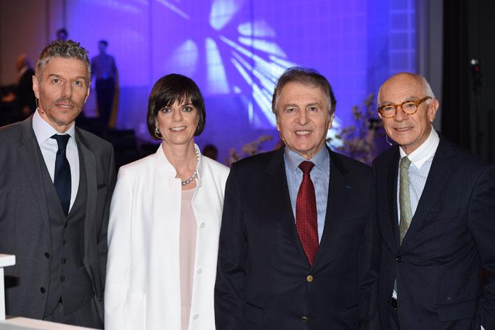 Il management: al centro, Sylvie Ritter, managing director di Baselworld e il ceo, René Kamm