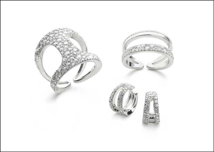 Collezione Siracusa in oro bianco e diamanti