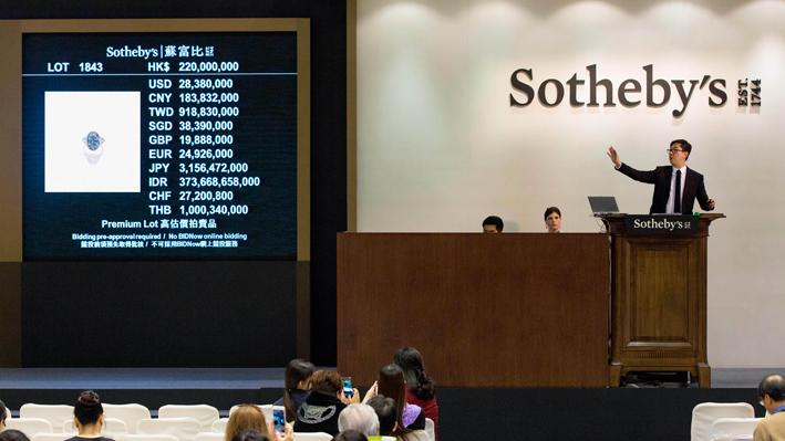 L'asta di Sotheby's a Hong Kong