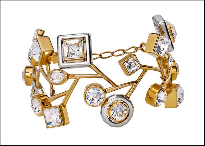 Atelier Swarovski, collezione Arbol di Peter Pilotto, bracciale con cristalli Swarovski