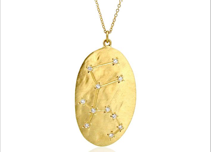 Collana Acquario. Con oro e diamanti bianchi