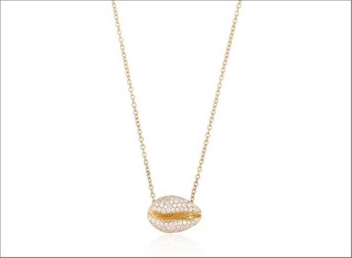 Collana in oro della collezione Le Cauri Endiamanté