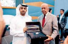 Ahmad Bin Sulayem e Fawaz Gruosi con il diamante