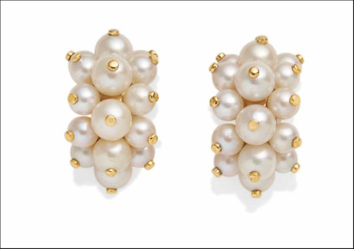 Clip di perle coltivate di René Bonvin