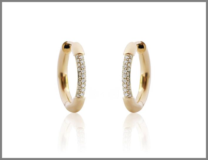 Orecchini Cerré Higgies in oro giallo e diamanti