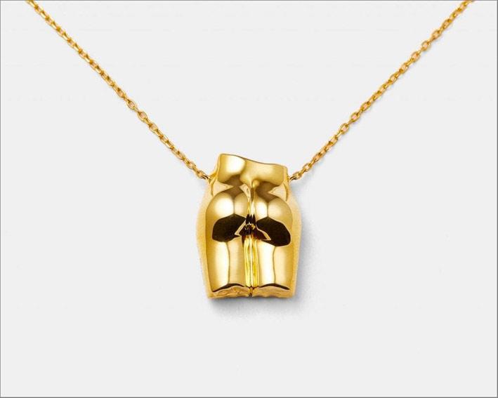 Collana Le Dèrriere, placcatura oro lucidata