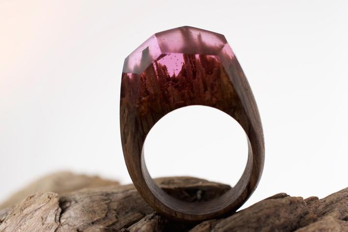 Anello Dark Pink Ametista