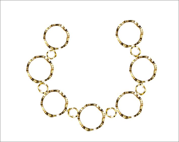 Collana Kandisky in argento o bronzo placcata oro