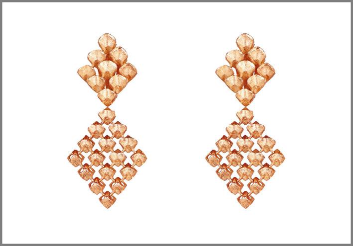 Collezione Resonance, orecchini oro rosa