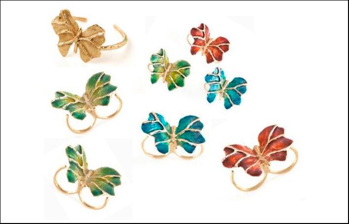 Collezione Butterfly. Faralle in bronzo e smalto.  Prezzo: 180 euro