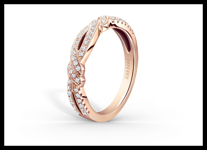 Anello vincitore del premio Jck. Oro rosa e diamanti, collezione Pirouetta. Prezzo da 2000 dollari