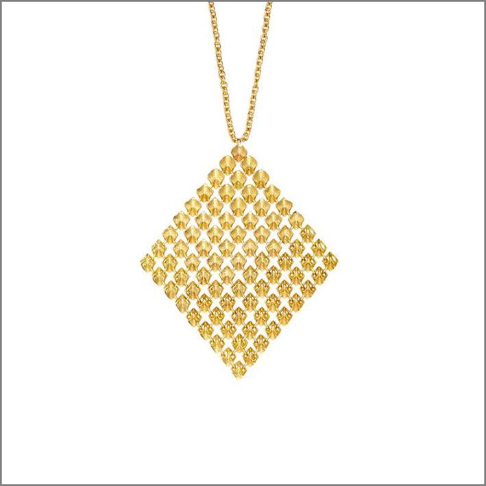 Collezione Resonance, pendente in oro giallo