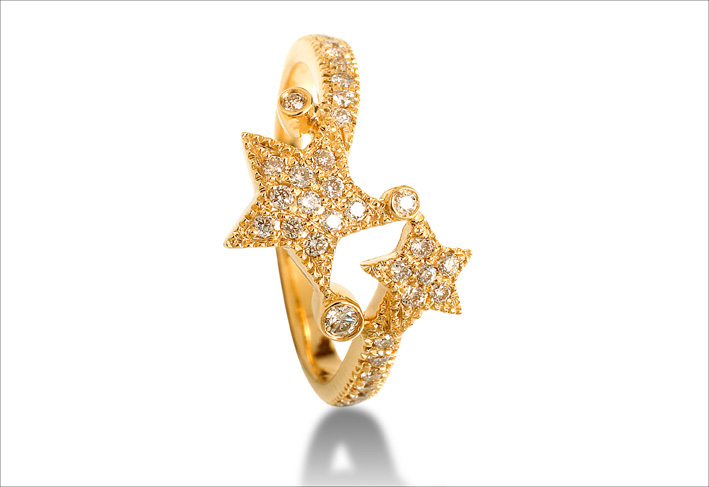 Anello Make a Wish, oro giallo e diamanti