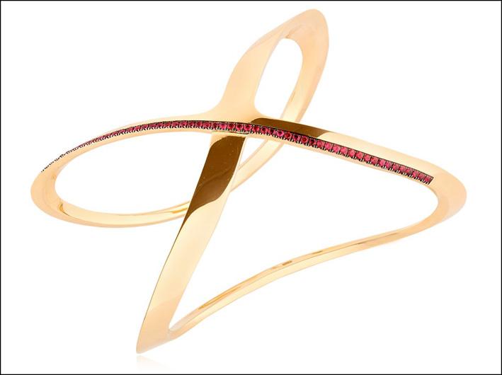 Collezione Siracusa, bracciale in oro e rubini