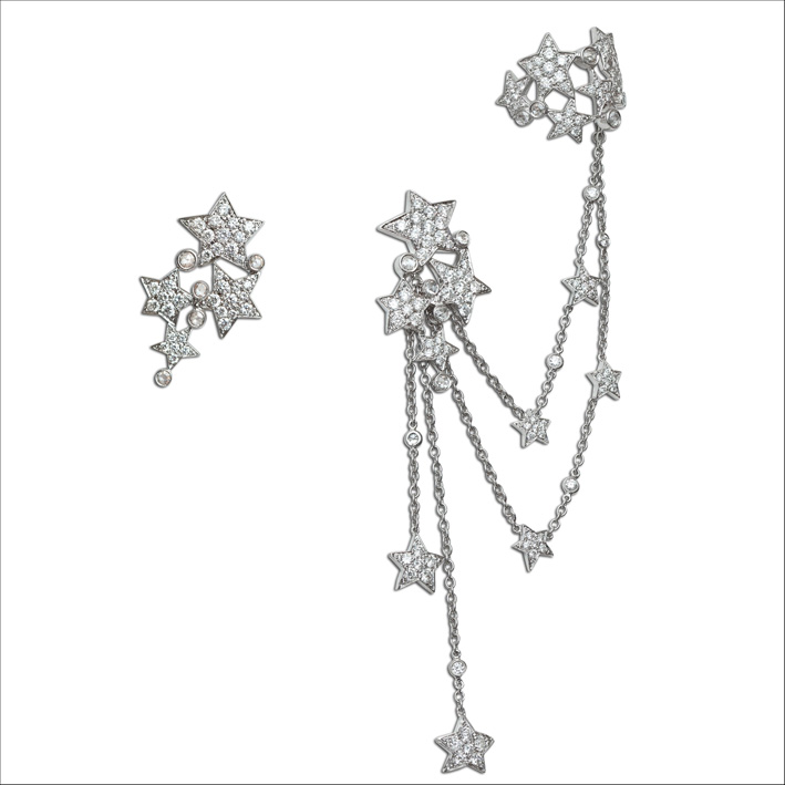 Earcuff Make a Wish, oro bianco e diamanti