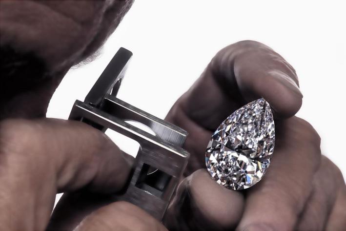 Lavoro di lucidatura del diamante The Graff Vendome