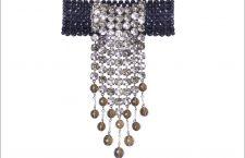 Collana Monroe in strass e metallo