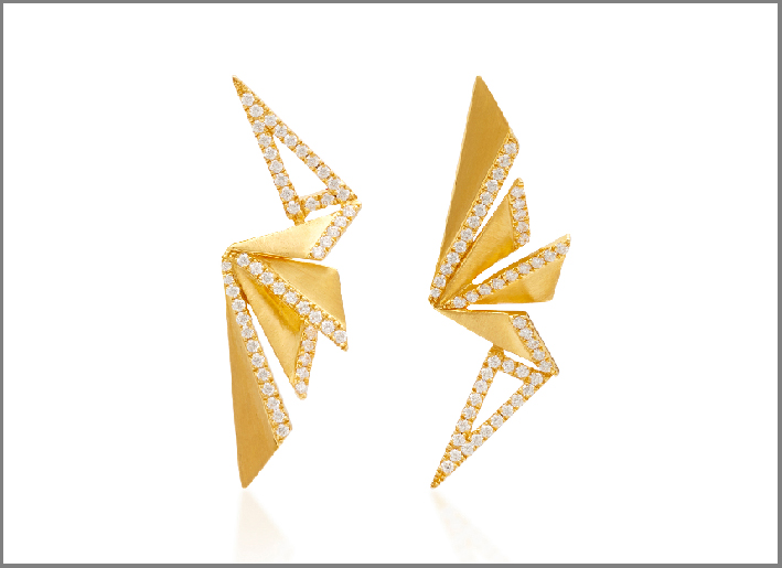 Orecchini Fan della collezione Origami di Kavant & Sharart