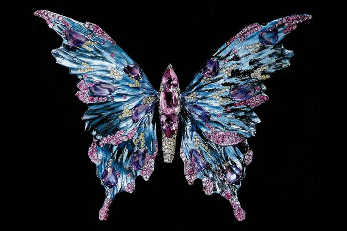 Una delle celebri farfalle del maestro cinese