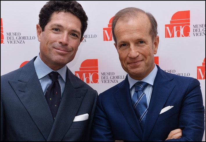 Matteo Marzotto, presidente di Fiera Vicenza (a sinistra) e Corrado Facco, direttore generale