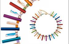 Big Radiant Beauty fine Elox multicolour. Collana in alluminio anodizzato e cristalli Swarovski. Prezzo: 499 euro