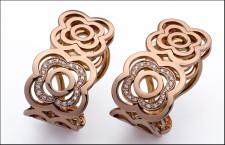 Bracciali della collezione Barcellona, in oro rosa e diamanti