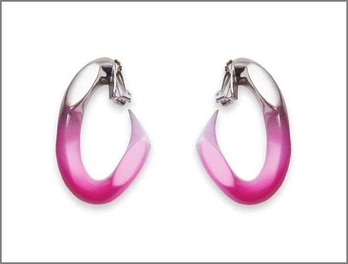 Orecchini Broken chain earrings, bronzo placcato e colorato