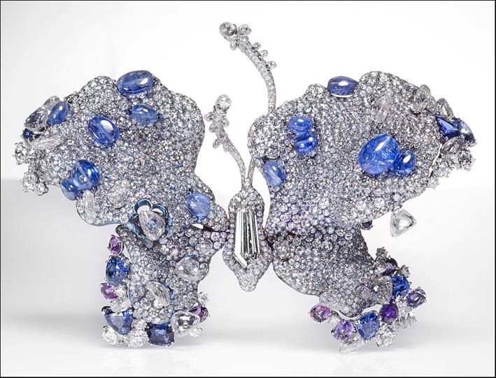 Farfalla con zaffiri e diamanti, del 2012