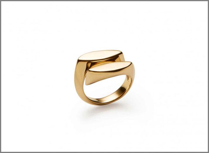 Anello della collezione Signet in bronzo placcato oro