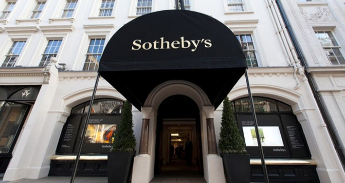 Ingresso di Sotheby's, a Londra