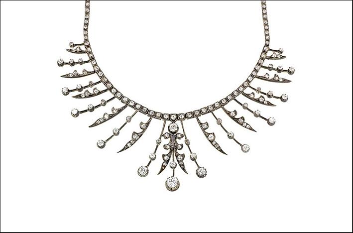 Collana vittoriana con diamanti. Prezzo: 28.000 dollari