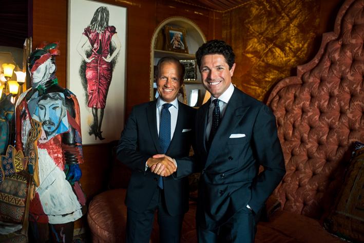Il direttore di Fiera Vicenza Corrado Facco (a sinistra), con il presidente, Matteo Marzotto