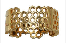 Bracciale Honeycomb and bee in oro e smalto