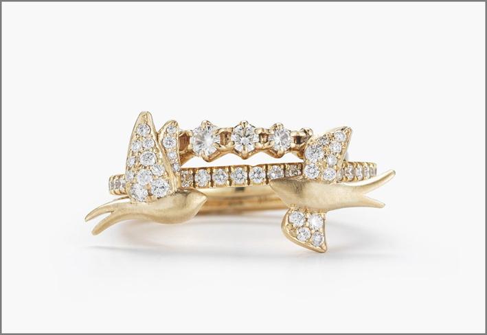 Stack Nightingale, con diamanti bianchi