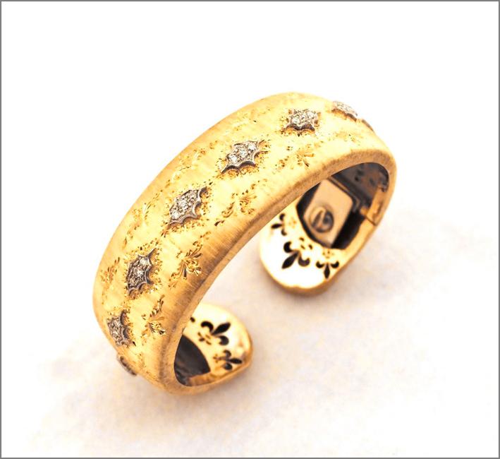 Bracciale in oro giallo in stile fiorentino