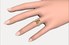 Rendering di un anello creato via web