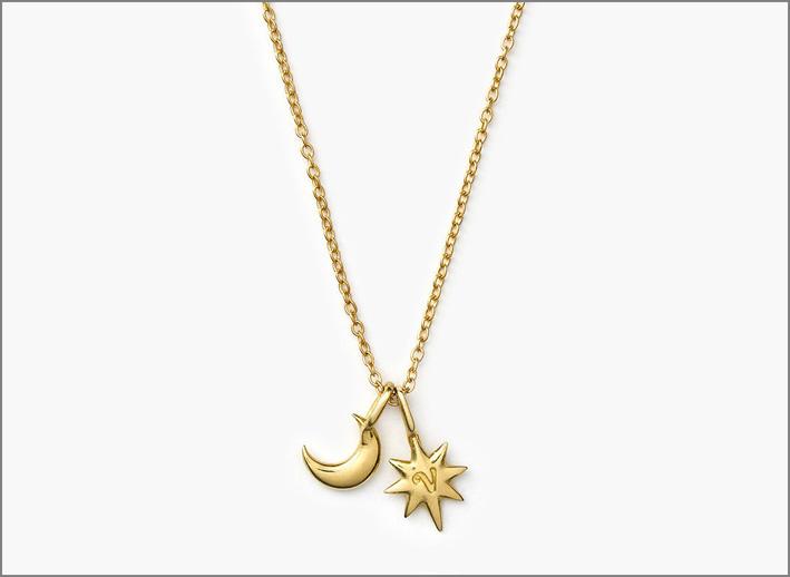 Collana Celestial in argento sterling, bronzo oppure oro 14 carati