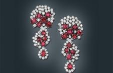 Orecchini pendenti a clip con rubini e brillanti. Stima: 28.000-38.000
