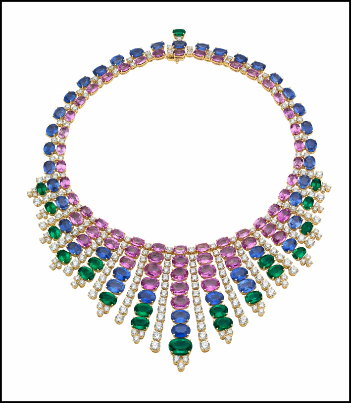 Collana di Bulgari con pietre colorate