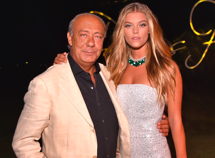 Fawaz Gruosi con Nina Agdal