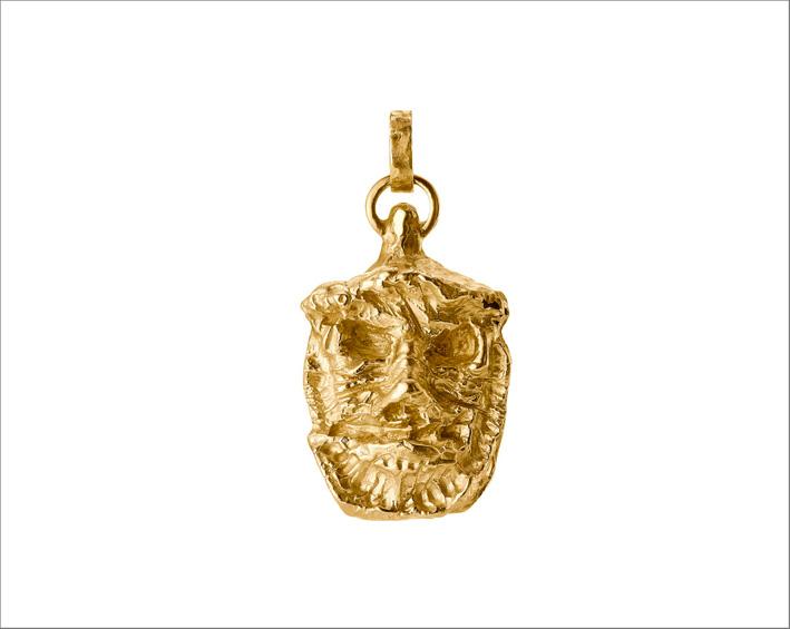 Ciondolo Sos Love in oro giallo 18 kt di Jonathan Meese