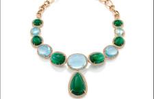 Collana con aquamarine e smeraldi
