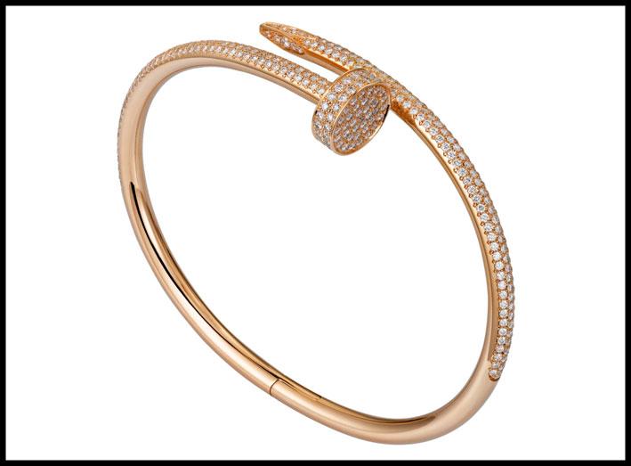Bracciale Just un clou di Cartier, in versione oro rosa e diamanti