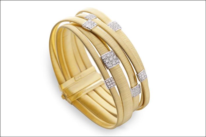 Bracciale n oro gialo e diamanti