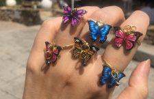 Anelli a forma di farfalla