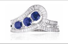 Bracciale con zaffiri e diamanti di Van Cleef & Arpels. Stima: 1,7-2,7 milioni di dollari