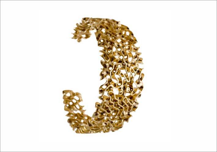 Bracciale in ottone dorato