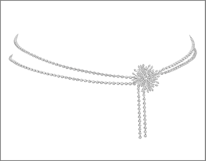 Cintura floreale in argento e burmalite